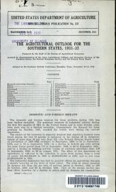The Agricultural outlook for the southern states, 1931-32