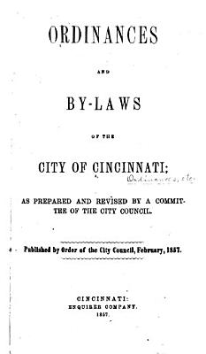Charter and Code of Ordinances of the City of Cincinnati