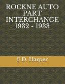 Rockne Auto Part Interchange 1932 - 1933