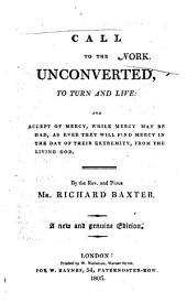 A call to the unconverted to turn and live. New and genuine ed