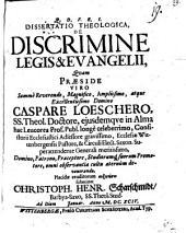 Diss. theol. de discrimine legis et evangelii
