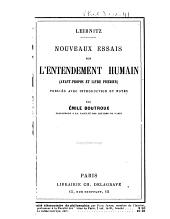 Nouveaux essais sur l'entendement humain: Avant-propos et livre premier
