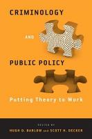 Criminology and Public Policy PDF