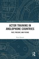 Actor Training in Anglophone Countries PDF