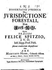 De jurisdictione forestali