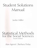 Student Solutions Manual for Statistical Methods for the Social Sciences Book