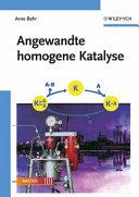 Angewandte homogene Katalyse PDF