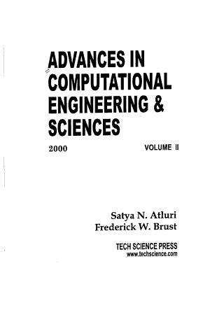 Advances in Computational   Engineering Sciences PDF