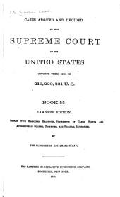 Reports of Cases Argued and Decided in the Supreme Court of the United States: Book 55
