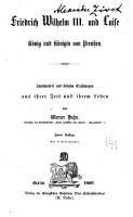 Friedrich Wilhelm III  und Luise  K  nig und K  nigin von Preu  en PDF