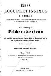Vollständiges Bücher-Lexicon: Bände 1-2