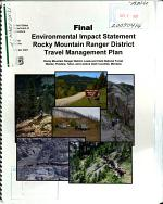 Lewis and Clark National Forest (N.F.), Rocky Mountain Ranger District Travel Management Plan