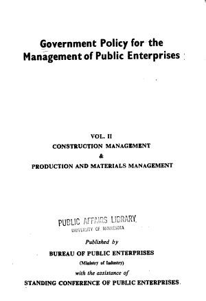 Construction management and production and materials management