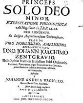 Princeps solo Deo minor, exercitatio philos. ad H. Grot