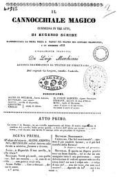 Il cannocchiale magico commedia in tre atti di Eugenio Scribe