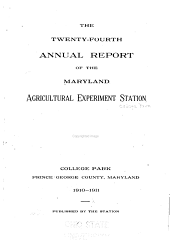 Annual Report - Maryland Agricultural Experiment Station