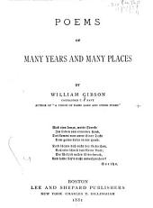 Poems of Many Years and Many Places