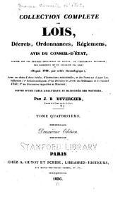 Collection complète des lois, décrets d'intérêe général, traités internationaux, arrêtés, circulaires, instructions, etc: Volume14