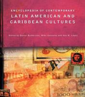 Encyclopedia of Contemporary Latin American and Caribbean Cultures PDF