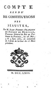 Compte rendu des constitutions des jésuites,