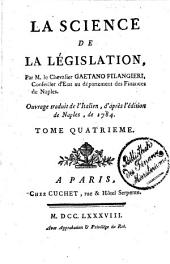 La Science De La Législation: Volume 4