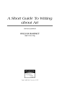 A Short Guide to Writing about Art PDF