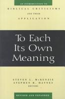To Each Its Own Meaning PDF