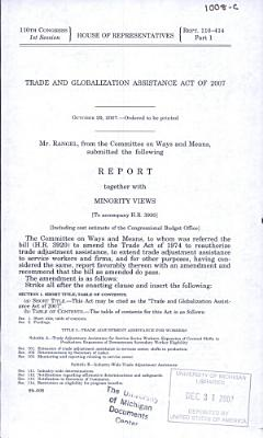 Trade and Globalization Assistance Act of 2007 PDF
