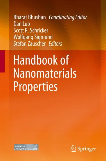 Handbook of Nanomaterials Properties PDF