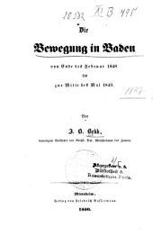 Die bewegung in Baden von ende des feb. 1848 bis zur mitte des mai 1849