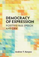 Democracy of Expression PDF