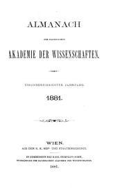 Almanach der kaiserlichen Akademie der Wissenschaften für das Jahr ...: Band 31