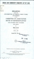 Urban and Community Forestry Act of 1989 PDF