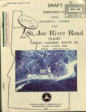 St  Joe River Road  Forest Route 20  Shoshone County PDF
