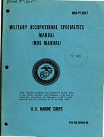Military Occupational Specialties Manual (MOS Manual).