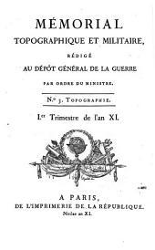 Mémorial topographique et militaire: Volume3
