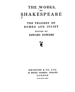 The Works of Shakespeare  Romeo and Juliet  ed  by Edward Dowden  4th ed   rev   1935 PDF