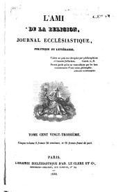 L'Ami de la religion: Volume123