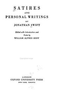 Satires and Personal Writings