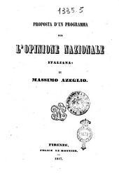 Proposta d'un programma per l'opinione nazionale italiana