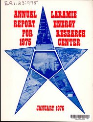 Annual Report Of The Laramie Energy Research Center Book PDF