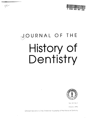 Journal of the History of Dentistry PDF
