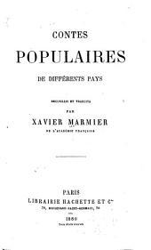 Contes populaires de différents pays ...