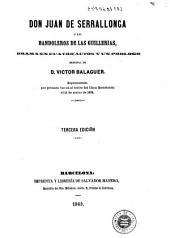 Don Juan de Serrallonga, ó, Los bandoleros de las Guillerias: drama en cuatro actos y un prologo