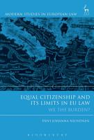 Equal Citizenship and Its Limits in EU Law PDF