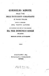 Cornelio Nipote Delle vite degli eccellenti comandanti
