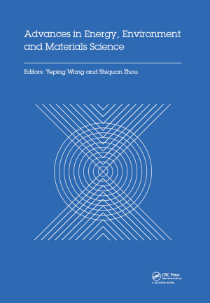 Advances in Energy  Environment and Materials Science