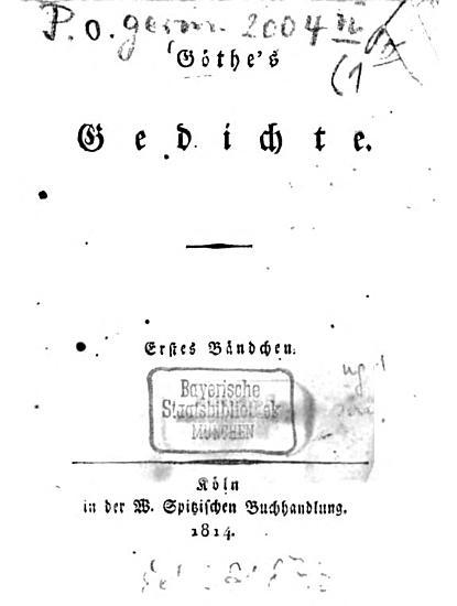 Goethe s Gedichte PDF