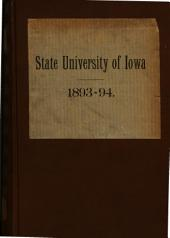 The ... University Catalogue of the State University of Iowa