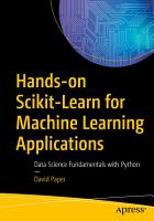 Hands on Scikit Learn for Machine Learning Applications PDF